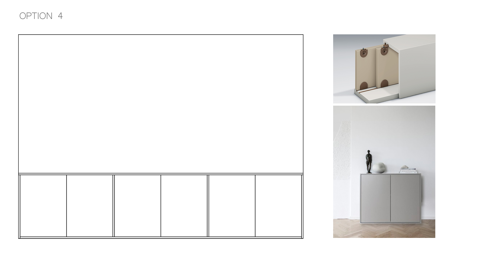 storage solution, cabinet with sliding doors