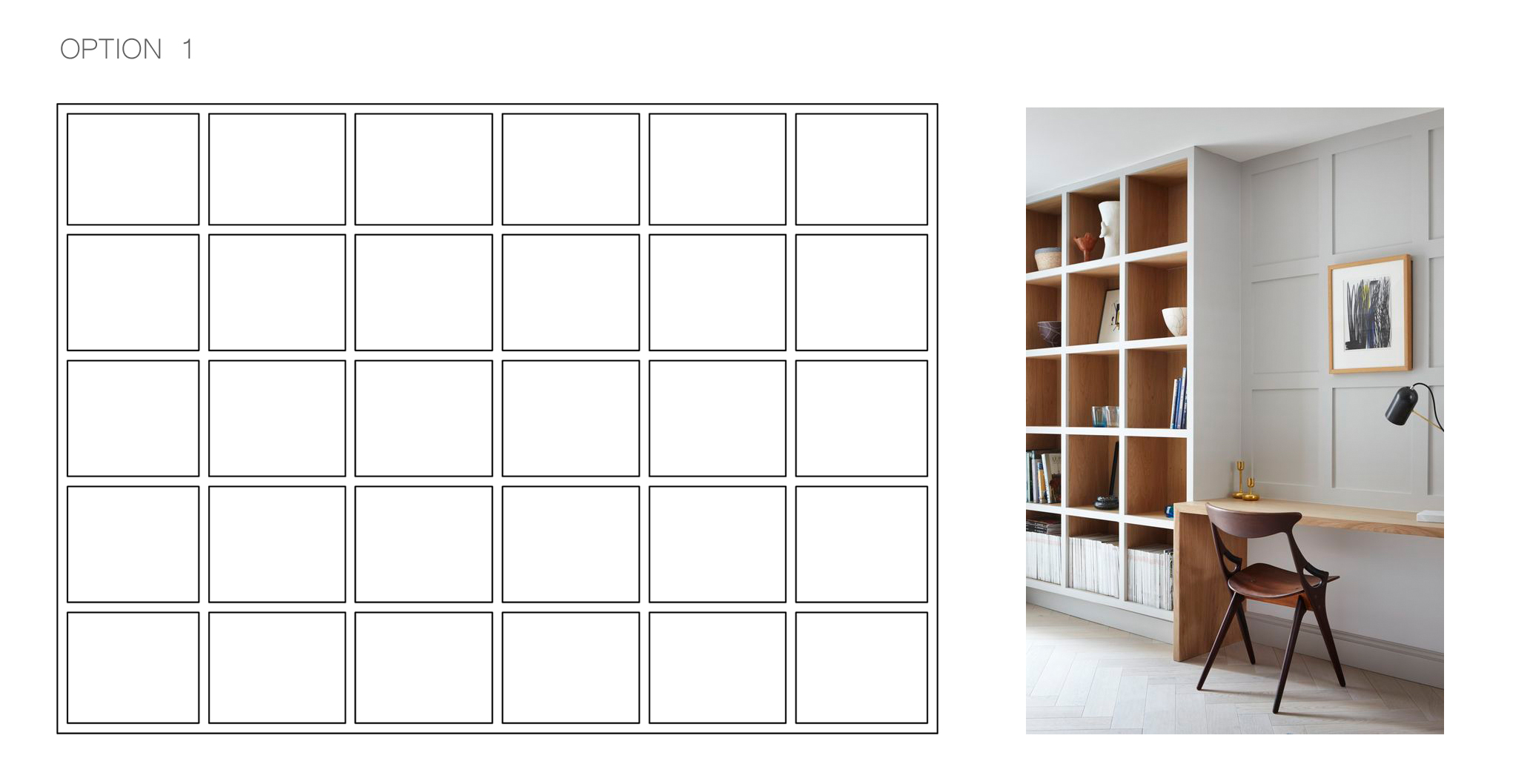 open shelving unit, storage solution