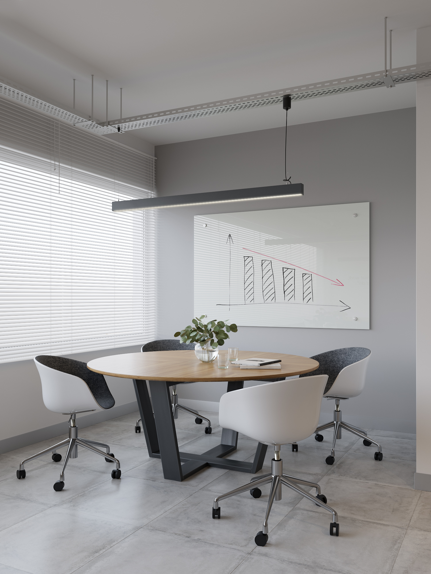 office design, office meeting area, office writing board
